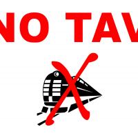 NO TAV logo