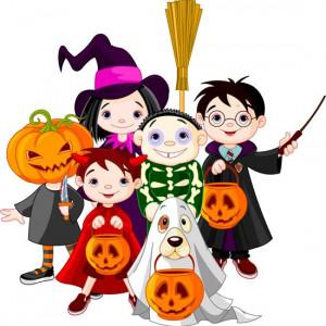 halloween bambini in costume disegno 550