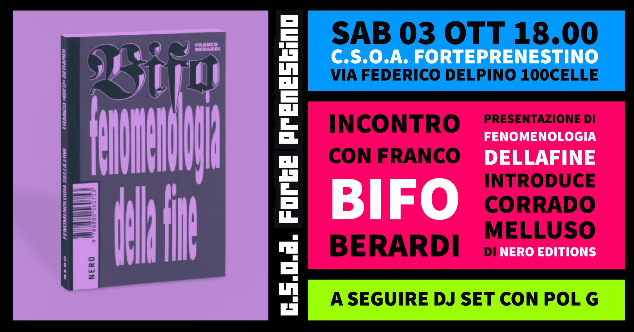 Presentazione del libro FENOMENOLOGIA DELLA FINE