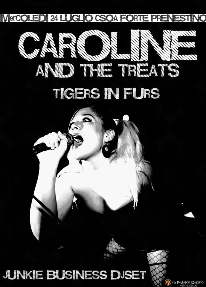 CAROLINE AND THE TREATS da Oslo LIVE AL CSOA FORTE PRENESTINO