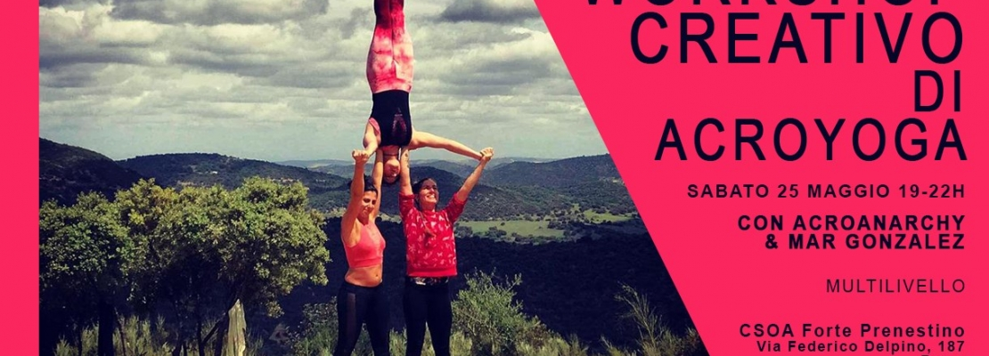 Creative Trio Acroyoga Workshop in Roma